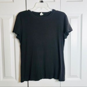 J Crew Black Short Sleeve Top//Size L